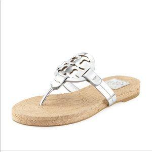 299fd33d4ba74 Women s Tory Burch Miller Sandal Silver on Poshmark